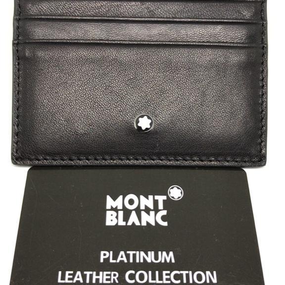 새제품 몽블랑 양가죽 카드 지갑(실사) - 상품이미지