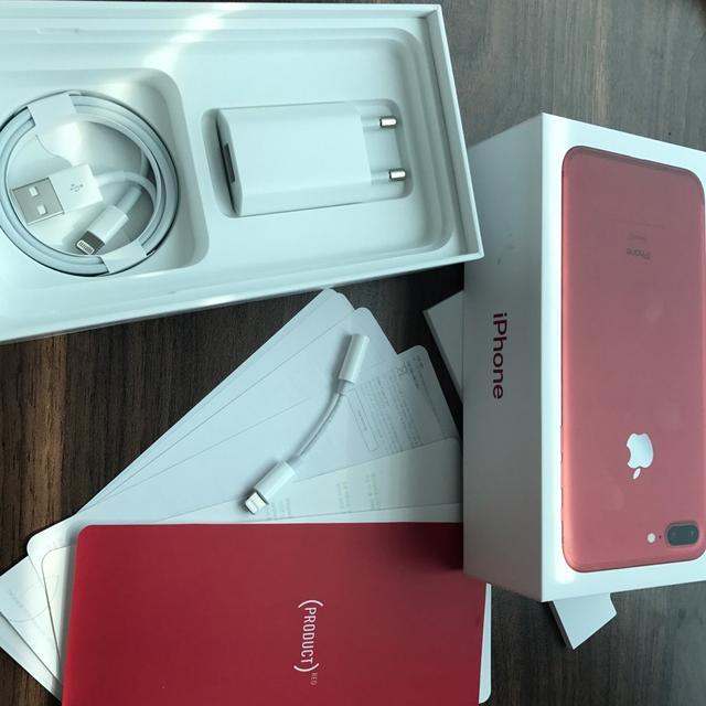 한정)아이폰 7+ 레드 구성품(이어폰 제외) 판매 - 상품이미지